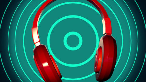 spin headphone vj loop music background Stock Video Footage