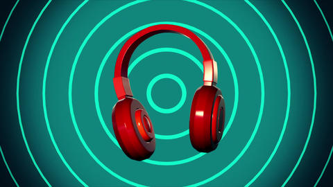 spin headphone vj loop music background Animation