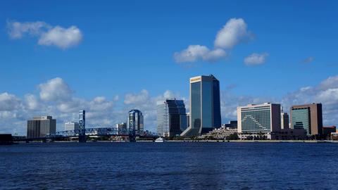 Downtown Jacksonville FL Timelapse stock footage