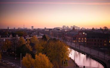 Amsterdam Sunset stock footage
