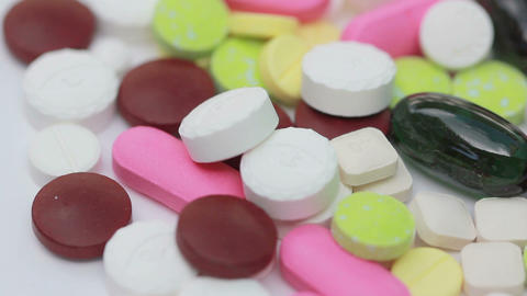 HD Macro, Loopable Colorful Medicine Pills stock footage