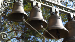 Ringing Of Bells In The Orthodox Church stock footage