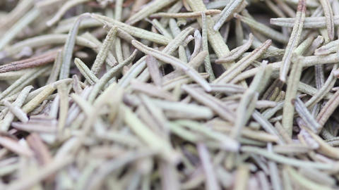 Macro Dried Rosemary, Loopable stock footage
