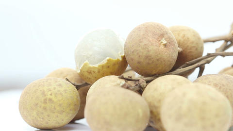 delicious ripe longan, loopable Footage