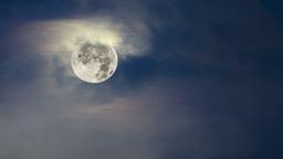 Blue moon and fog Footage