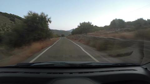 Speeding down dry road Footage