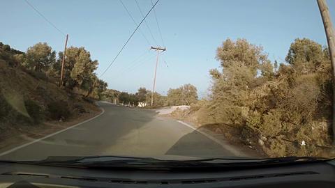 Windy back road in Crete Footage