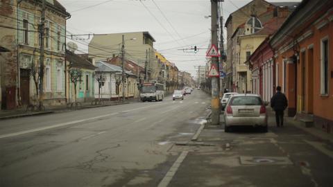 Romania Cluj Street 1 stock footage
