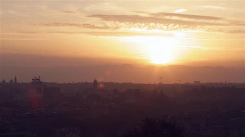 Rome_Sunrise stock footage