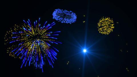 Blue & Gold Fireworks Animation
