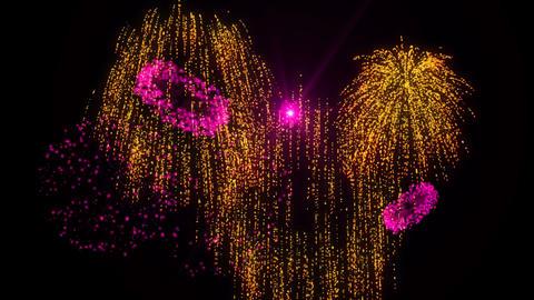 Gold & Pink Fireworks Animation