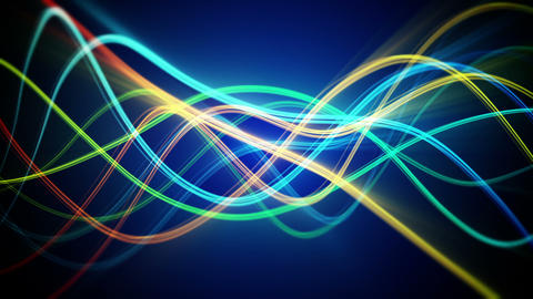 colorful flowing lines loopable background Animation