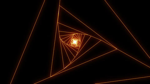 3 D Triangle B Orange stock footage