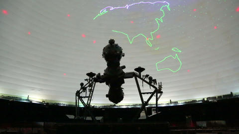 Star Projector Inside A Planetarium stock footage