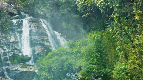 Large waterfall in the jungle near Chiang Rai. Tha Footage