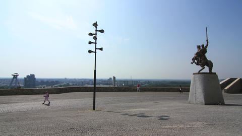 View from the Castle in Bratislava Footage