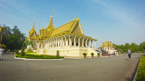 PHNOM PENH. CAMBODIA - 29 DEC 2013: The throne hal Footage