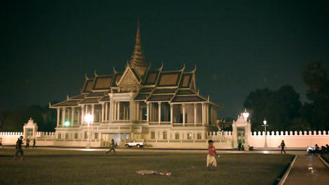 PHNOM PENH. CAMBODIA - 29 DEC 2013: Illuminated by Footage