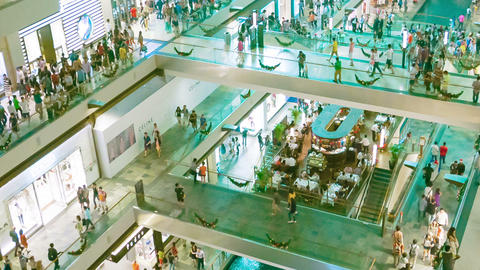 SINGAPORE - CIRCA DEC 2013: Large Shopping Complex stock footage