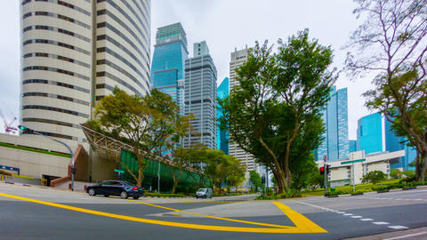 SINGAPORE - 01 JAN 2014: Cars And Taxi Traffic On stock footage