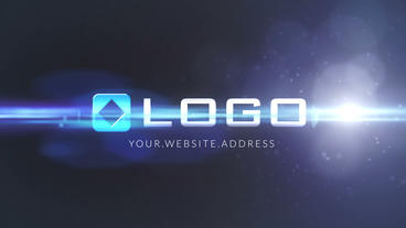 Blue Light Particles Logo Intro Animation After Effects Project