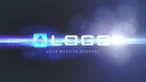Blue Light Particles Logo Intro Animation After Effects Template