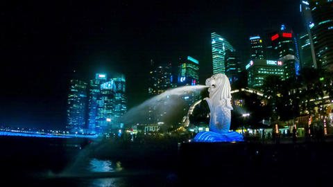 SINGAPORE - CIRCA DEC 2013: Symbol of the country Footage