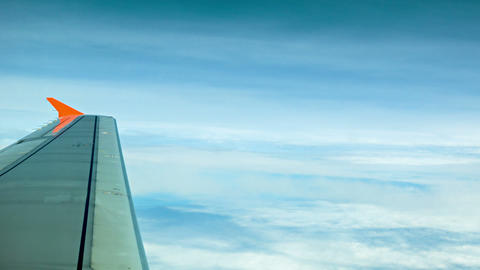 The View From The Window Of A Passenger Aircraft.  stock footage