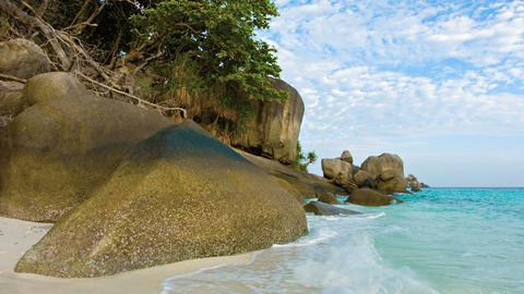 Large rocks on the beach. Thailand. Similan Footage
