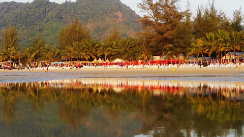 KAMALA. THAILAND - CIRCA MAR 2014: Leisure boat pu Stock Video Footage