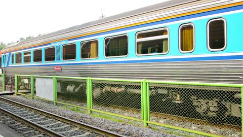AUTHAYA. THAILAND - CIRCA NOV 2013: Departing pass Footage