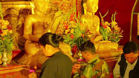 BAGAN. MYANMAR - CIRCA JAN 2014: Visitors of the B Footage
