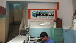 Small Private Repair Shop In Santa Clara,Cuba stock footage