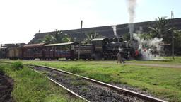 Old Steam Locomotive Engine Train stock footage