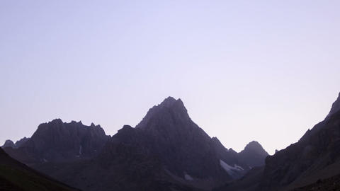 Mountains in the moonlight. Time Lapse. Pamir. 128 Footage