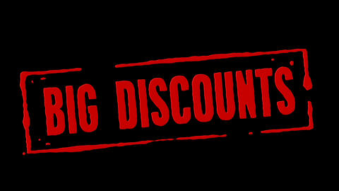 Big Discounts Red Stamp Transition Animation