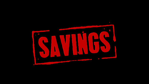Savings Red Stamp Transition Animation