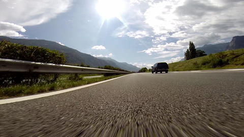Overtaking On Swiss Highway (At Normal Speed : 120 stock footage