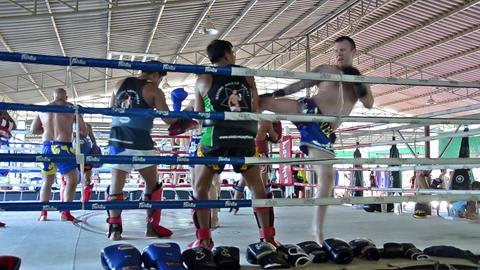 Thailand, Bangkok, Muay Thay stock footage