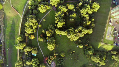 Flight Over Moscow stock footage