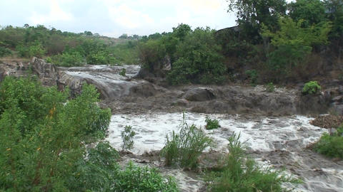 Malawi: flooded river after tropical rain storm 2 Stock Video Footage