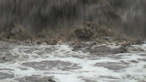 Malawi: flooded river after tropical rain storm 4 Stock Video Footage