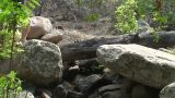Malawi: Boy Walking On A Rocks stock footage