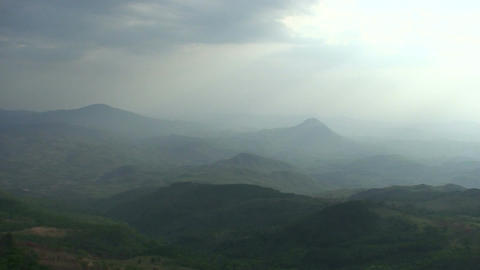 Malawi: panorama of mountains at sunset Live Action