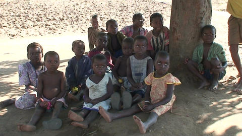 Malawi: african children listen the story Footage