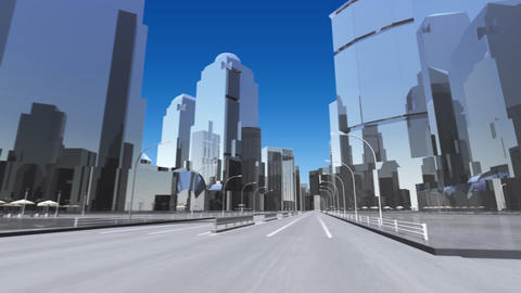 City 6E1 HD Stock Video Footage