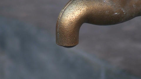 Malawi: water dripping from tap 2 Footage