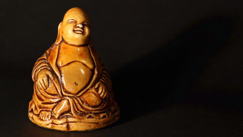 Buddha Statue ART 02 pan Stock Video Footage