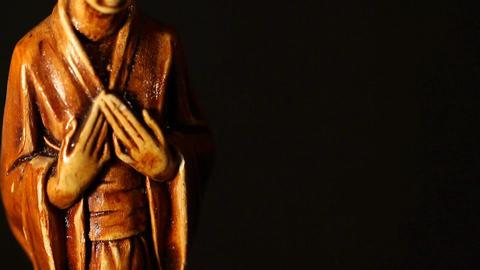 Geisha Statue ART 03 tilt Stock Video Footage