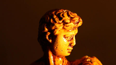 Michelangelo David Statue ART 02 tilt Stock Video Footage